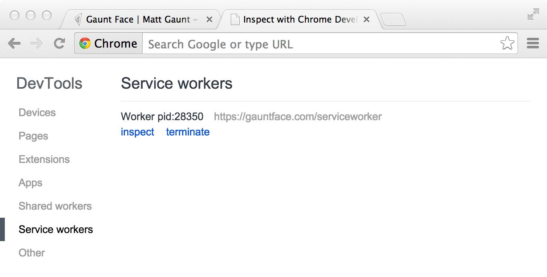 检查 Service Worker
