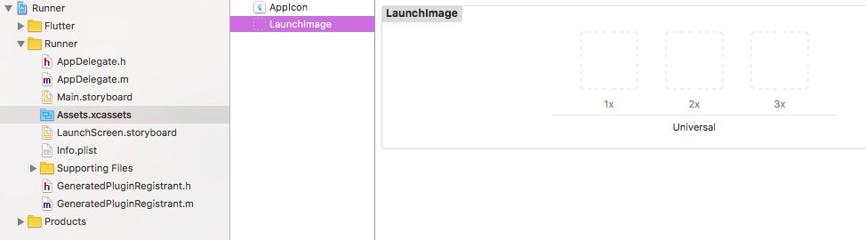 Adding launch icons in Xcode
