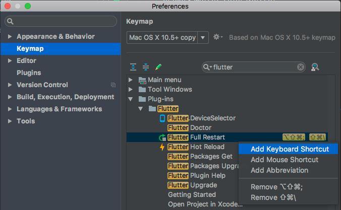IntelliJ Settings Keymap