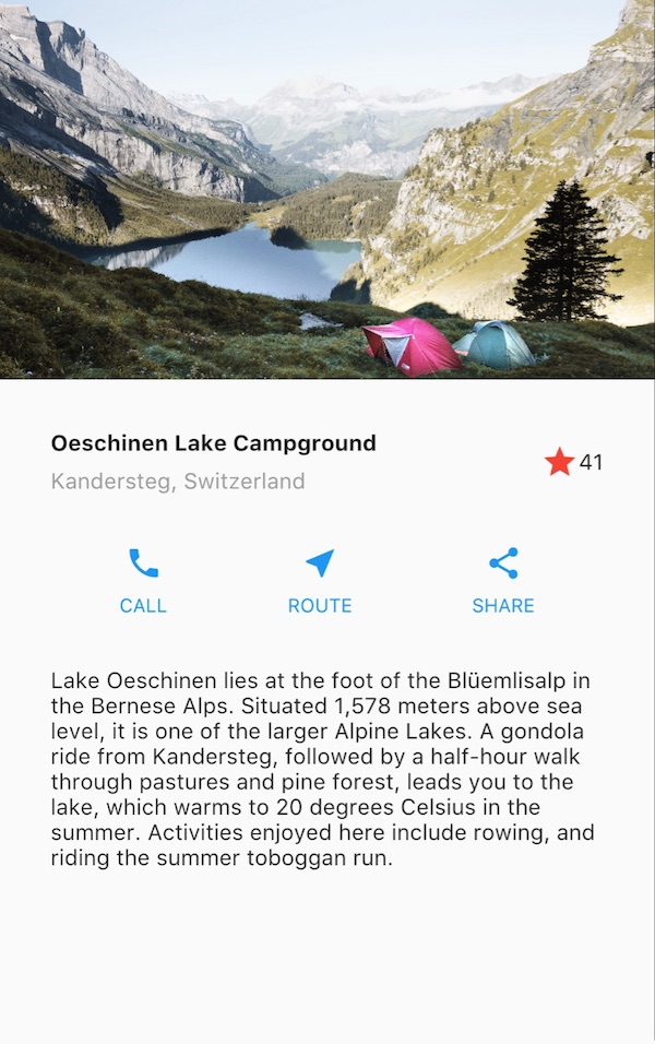 The starting Lakes app that we will modify