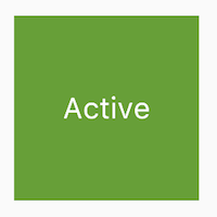 a large green box with the text, 'Active'